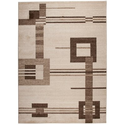 Home & Haus Barite Hand-Woven Beige Area Rug