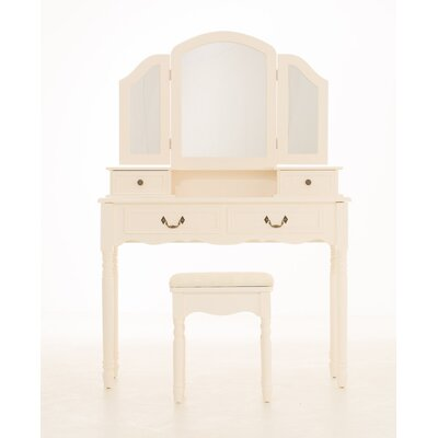 Home & Haus Olivia Dressing Table with Mirror