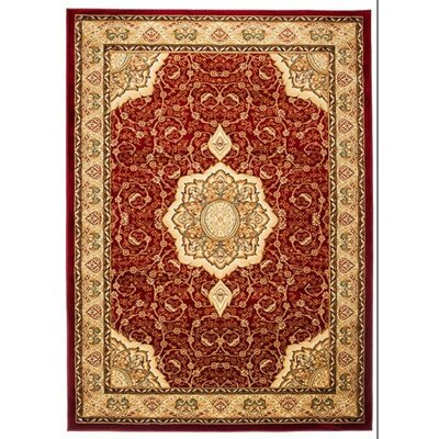 Home & Haus Copal Red/Gold Area Rug