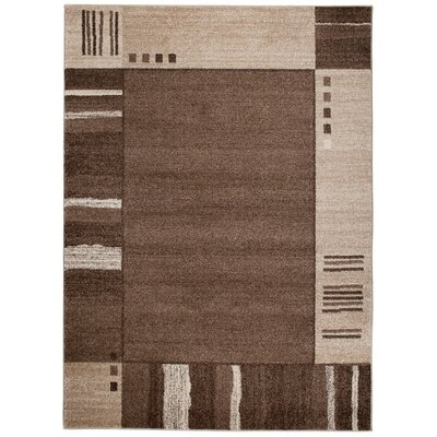 Home & Haus Barite Hand-Woven Brown Area Rug
