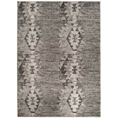 Home & Haus Barite Hand-Woven Dark Gray Area Rug