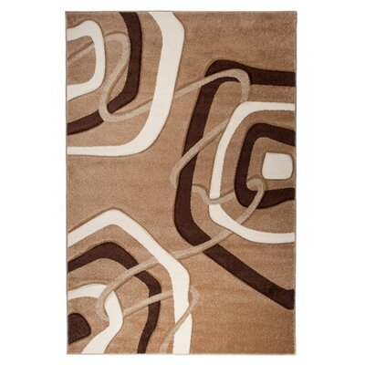Home & Haus Amatrix Dark Beige Area Rug