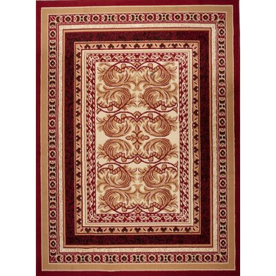 Home & Haus Halite Red Area Rug