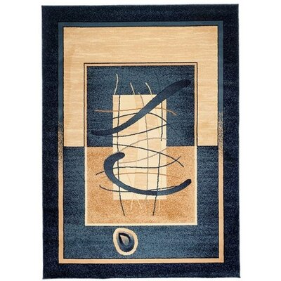 Home & Haus Sphere Navy Blue Area Rug