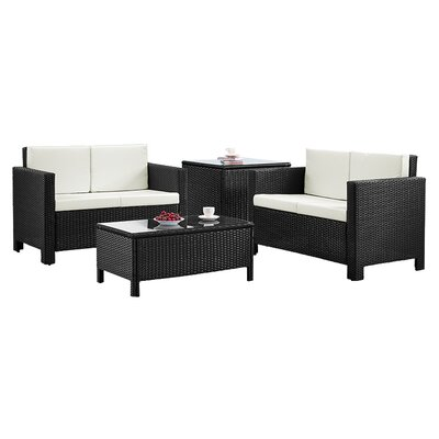 Home & Haus 4 Seater Sofa Set with Cushions