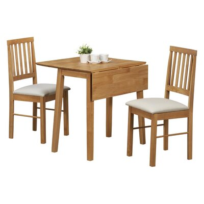 Home & Haus Wells Extendable Dining Table and 2 Chairs