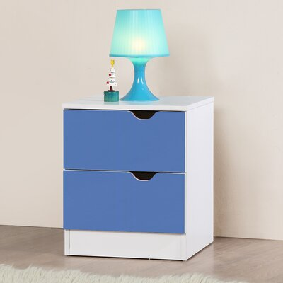 Home & Haus Perth 2 Drawer Bedside Table