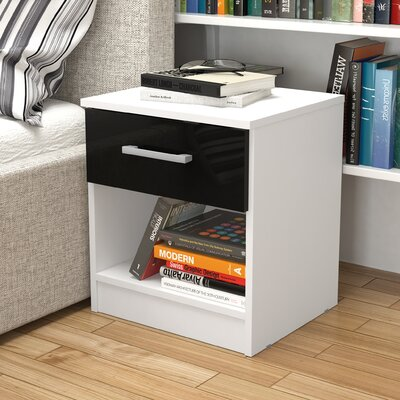 Home & Haus Cambridge 1 Drawer Bedside Table