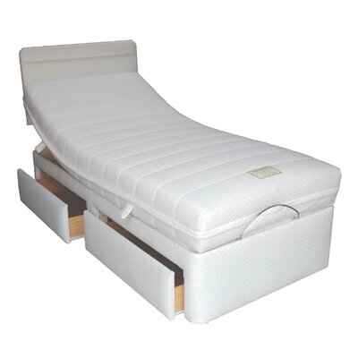 Home & Haus Upholstered Storage Ajustable Bed