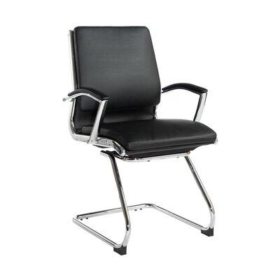Home & Haus Affreden Mid-Back Leather Desk Chair
