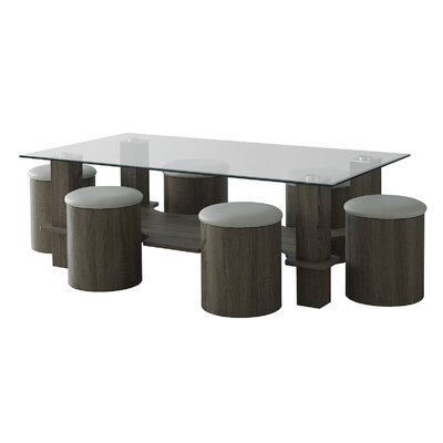 Home & Haus Eli Dining Table and 6 Chairs
