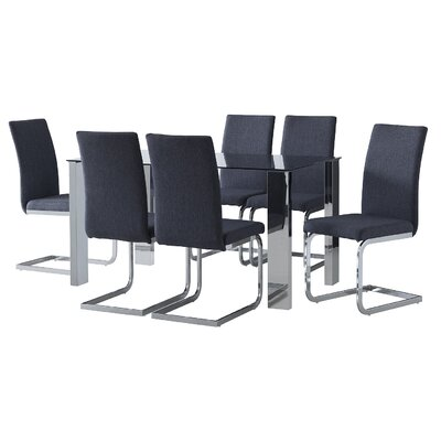 Home & Haus Lyle Dining Table and 6 Chairs