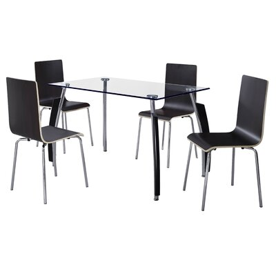 Home & Haus Gabriel Dining Table and 4 Chairs