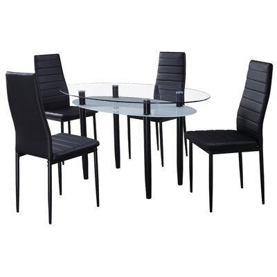 Home & Haus Orlando Dining Table and 4 Chairs