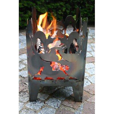 Home & Haus Katze Crude Steel Fire Pit