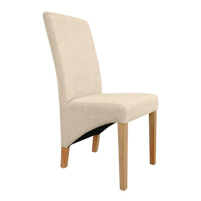 Home & Haus Solid Rubberwood Upholstered Dining Chair