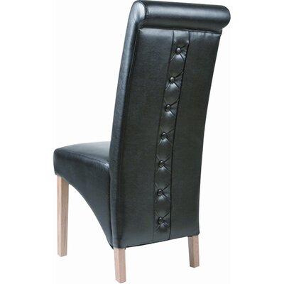 Home & Haus Solid Oak Upholstered Dining Chair