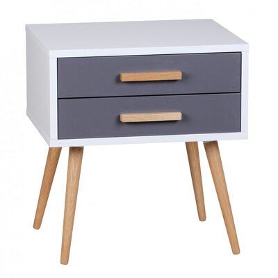 Home & Haus Ayo 2 Drawer Bedside Table