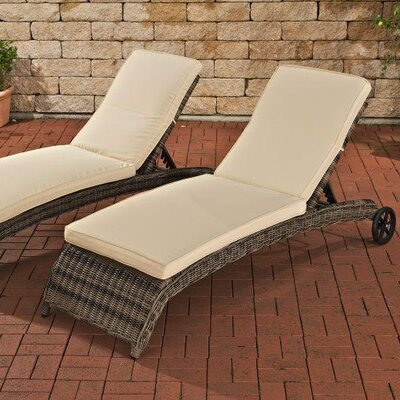 Home & Haus Turin Sun Lounger Set with Cushions