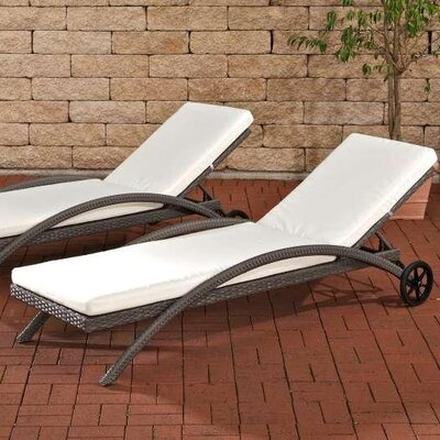 Home & Haus Daylight Sun Lounger Set with Cushions