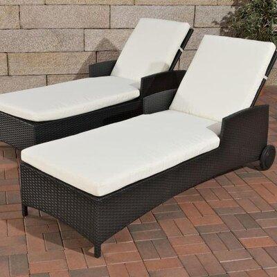 Home & Haus Turin Sun Lounger with Cushion