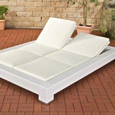 Home & Haus Daylight Double Sun Lounger with Cushion