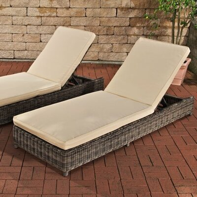 Home & Haus Bario Sun Lounger Set with Cushions