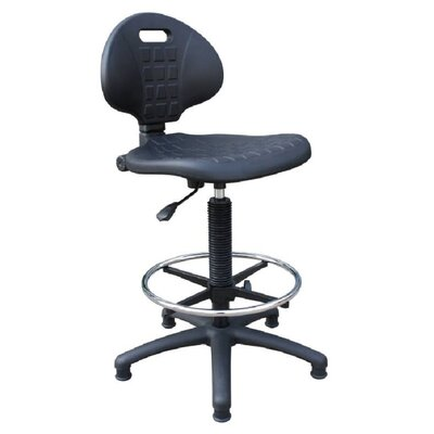 Home & Haus Polyurethane Draughtsman Chair in Black