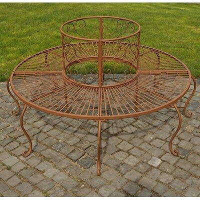 Home & Haus Pamela Iron Circular Tree Bench