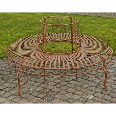 Home & Haus Iron Circular Tree Bench