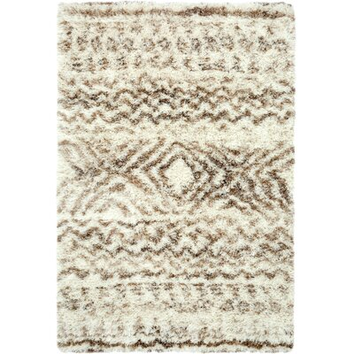 Home & Haus Stories Boho Chic Wool White/Brown Area Rug