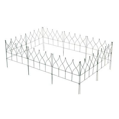 Home & Haus Mdutu 45 x 45cm Border Fence Set