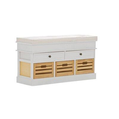 Home & Haus Schellin Wood Bench with Storage