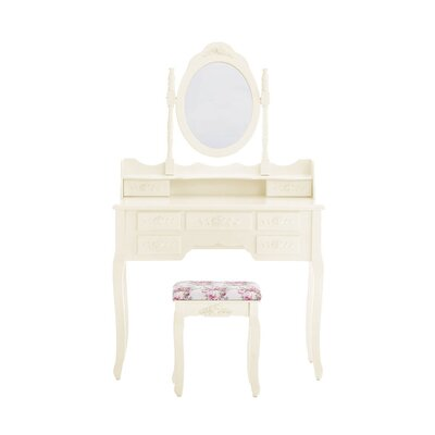 Home & Haus Gila Dressing Table Set with Mirror