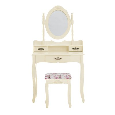 Home & Haus Loire Dressing Table Set with Mirror