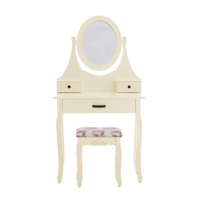 Home & Haus Morar Dressing Table Set with Mirror