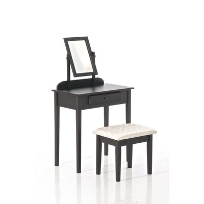 Home & Haus Hessle 2-Piece Dressing Table Set with Mirror