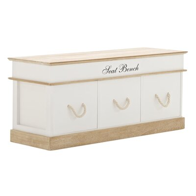 Home & Haus Molina Wooden Bench with 3 Drawers