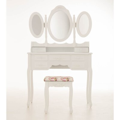 Home & Haus Tabor Dressing Table Set with Mirror