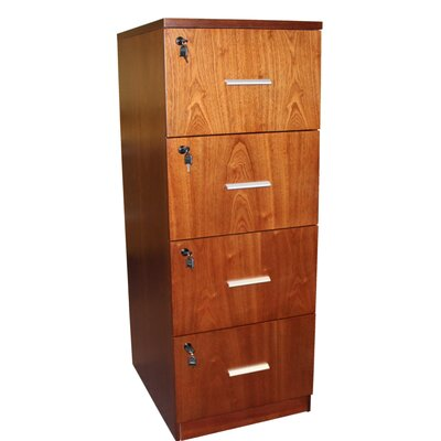 Home & Haus Attractive 4-Drawer Vertical Filing Cabinet