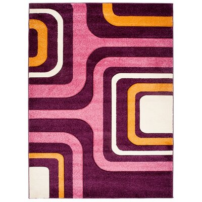 Home & Haus Garnet Dark Violet Area Rug