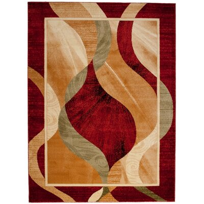 Home & Haus Sphere Red Area Rug