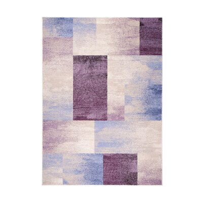 Home & Haus Leggo Dark Purple Area Rug