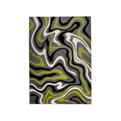 Home & Haus Amatrix Green Area Rug