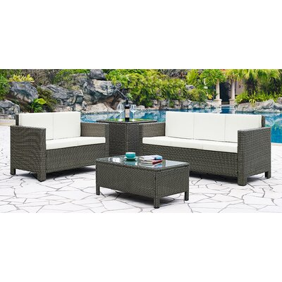 Home & Haus 5 Seater Sofa Set with Cushions
