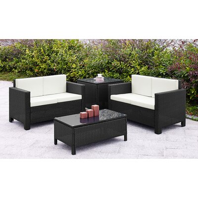 Home & Haus 4 Seater Sofa Set with Custions