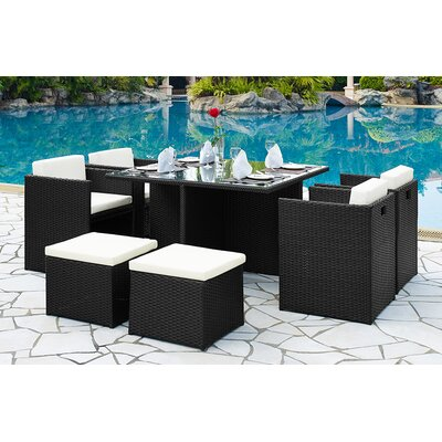 Home & Haus 8 Seater Dining Set with Cushions