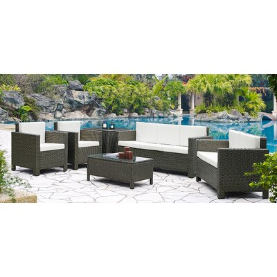 Home & Haus 6 Seater Sofa Set with Cushions