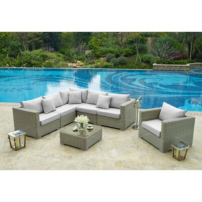 Home & Haus Sectional Sofa Set with Cushions