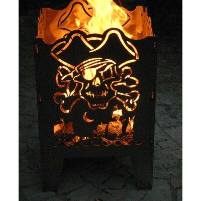 Home & Haus Pirate Crude Steel Fire Basket